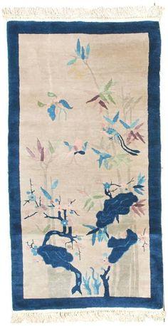 Antique Art Deco Chinese Oriental Rug 6346   eBay