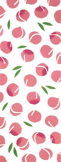 Inspiration how to create a peach shape Japanese Textiles, Japanese Patterns, Japanese Fabric, Japanese Prints, Japanese Art, Textures Patterns, Fabric Patterns, Print Patterns, Japan Design