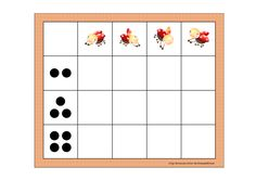 Board for the matrix counting game. Find the belonging tiles on Autismespektrum on Pinterest. By Autismespektrum.