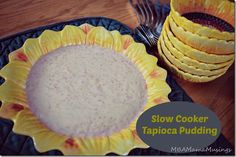 Slow Cooker Tapioca Pudding - all of the taste, none of the mess