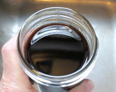 closeup of finished coffee oil