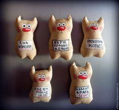 """Купить Ароматные магниты """"На диете!"""" - коричневый, магнит на холодильник, магнит, кот, котики, котейка"""