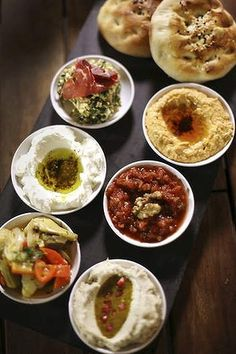 Meze plate for two at Efendy Turkish restaurant in Balmain. Turkish Recipes, Greek Recipes, Meze Recipes, Comida Armenia, Meze Platter, Morrocan Food, Turkish Restaurant, Cancer Causing Foods, Food Menu