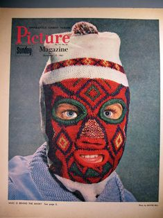 cool 1960's ski mask