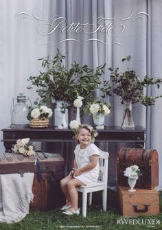 WedLuxe: This charming shoot captured by lifeimages. is filled with kid-friendly #vintage #wedding ideas