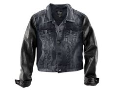 H&M the Girl With the Dragon Tattoo Faded Black Denim Jacket