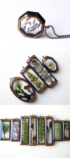 Artist Erin LaRocque (of BuildWithWood) creates beautiful pendants by…
