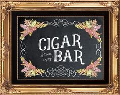 fall wedding sign printable fall Cigar Bar by OurFriendsEclectic