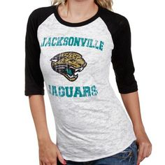 Women's Jacksonville Jaguars Nike Black Team Stripe Tri-Blend V-Neck T-Shirt