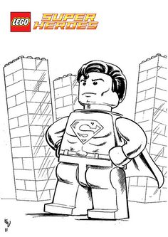 lego superman printable coloring page - Enjoy Coloring