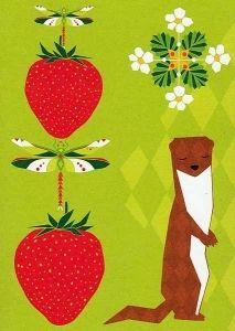 Folklore #4 - Lumikko 1.00€ Folklore, Illustration, Prints, Cards, Character, Inspiration, Strawberry, Summer, Biblical Inspiration