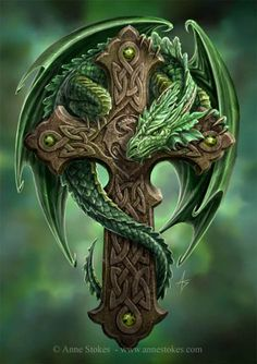 Celtic Cross and Dragon