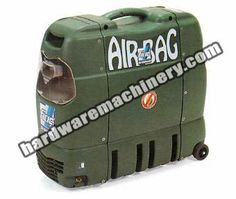 Fiac Air Compressor Airbag. Belt-driven, oil-less, 1.5HP / 6litre tank, low noise (65dB)