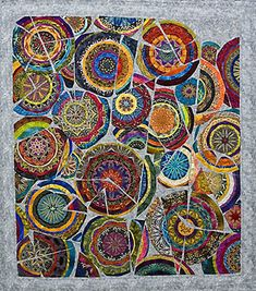 Kaleidoscopic XXXIII Shards 2008 from New York quilt maker #Paula Nadelstern mandala quilt