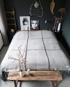 You have a nice living room but no room? And if you partition your living room to create this room you dream? How to create two separate spaces in a room without heavy work? Cozy Bedroom, Trendy Bedroom, Home Decor Bedroom, Bedroom Ideas, Master Bedroom, Indie Bedroom, Bedroom Rugs, Bedroom Simple, Bedroom Furniture