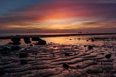 Germany Wilhelmshaven Jade Bay Sunrise Waden Sea