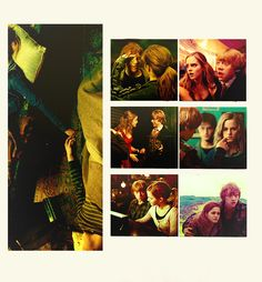 Sweet moments between Ron & Hermione -my fav is the brush on the cheek while telling her she's the best at spells