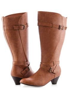 Double Strap Wide Width Riding Boots