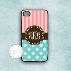 candy iphone 4 case stripes  and polka dots