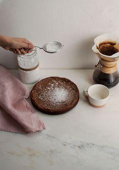 Crackily Chocolate Cardamom Flourless Meringue Cake