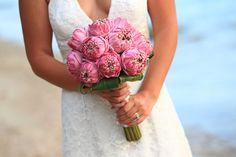 Open, folded pink lotus. Weddings in Thailand
