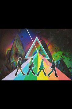 ☮ American Hippie Psychedelic Art ~ Trippy side of abbey road