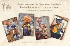 Scott Smith, Halloween Paper Crafts, Baseball Cards, Studio, Create, Unique Jewelry, Handmade Gifts, Artwork, Character