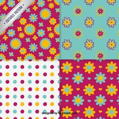 Floral and dotted patterns collection