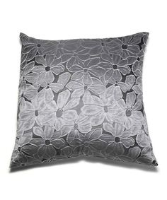 Love this Silver Floral Throw Pillow on #zulily! #zulilyfinds, $15 !!