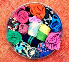 Fabulous sock storage by Adir Abergel. Sock Storage, Home Organization, Organizing, Color, Home Decor, Socks, Inner Child, Organizations, Random Things