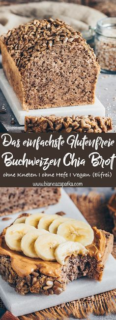 buchweizen chia brot glutenfrei einfach bianca zapatka rezepte - The world's most private search engine Food Cakes, Easy Bread Recipes, Cake Recipes, Simple Gluten Free Bread Recipe, Easy Healthy Bread Recipe, Gluten Free Buckwheat Bread, Easy Gluten Free Recipes, Best Gluten Free Bread, Cakes Originales