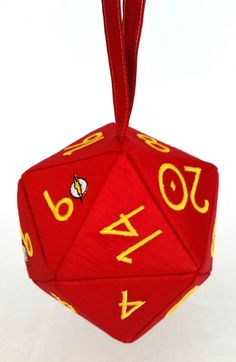 Embroidered D20 Bags With A Comic Book Twist