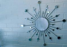 24 Inch with 6 Inch Center Metal Sunburst Wall Art