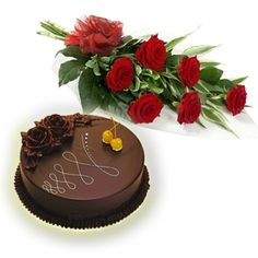 ec9282be9695 Send 12 Beautiful Red Roses Hand Bunch With 1 Kg Delicious Egg Less Cake To  See