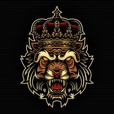 Lion King Art, Lion Art, Lion Head Logo, Lion Logo, Vector Verde, Real Crown, Lion Forearm Tattoos, Crown Illustration, Boss Wallpaper