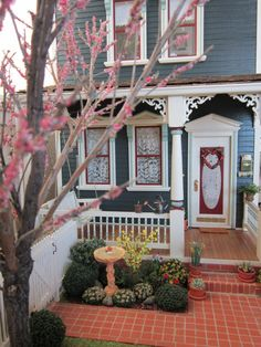 Spring front porch by the very talented Kathleen Holmes!