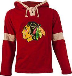 Old Time Hockey Chicago Blackhawks Grant Lace Hoodie - Shop.NHL.com  Blackhawks Hockey c199dc51b