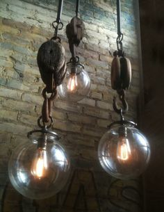 lamparas y paredes