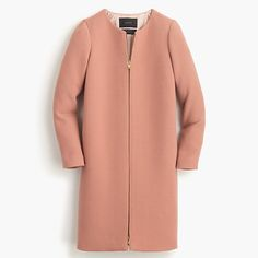 Double-cloth collarless coat // jcrew // style // color (also like black)