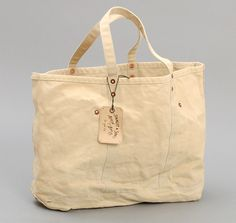 STANLEY & SONS: Coal Bag w/ Cloth Handles, Sand