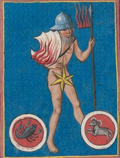 image from the 15thC astrological treatise known as the codex schürstab (zurich, zentralbibliothek, C. 54)