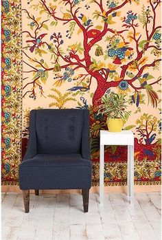 I had a Tree of Life bedspread in the 70's.  UO's revival of the tapestry looks good.