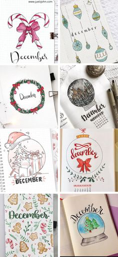 32 Best December bullet journal cover pages for 2020. Christmas bullet journal ideas to copy this year. December bullet journal ideas to inspire. December monthly covers for your bullet journal. December weekly spread ideas. December bujo. Bullet journal themes for December.