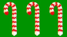 Rainbow Loom Charms Candy Cane Christmas made with loom bands