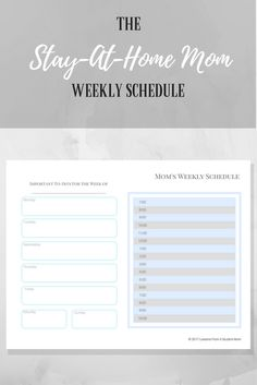 Don't lose track of time anymore. Create your very own stay-at-home mom schedule and always get sh*t done.