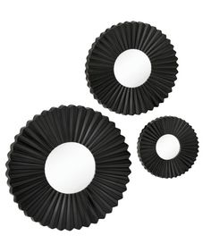 In the mood for a piece with unique textures? Introducing our black, circular, wall art - perfect for any contemporary look!