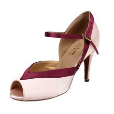 Abby Q6129 Womens Litin Shoes Ballroom Dance 34 Flared Heel Pink US Size105 ** Want additional info? Click on the image.(This is an Amazon affiliate link and I receive a commission for the sales)