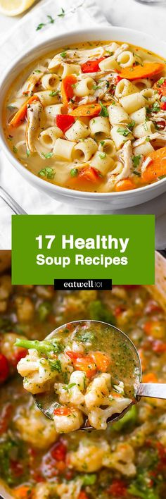 Healthy Soup Recipes — Come together quickly, with mostly pantry ingredients! : Healthy Soup Recipes — Come together quickly, with mostly pantry ingredients! Best Soup Recipes, Healthy Soup Recipes, Diet Recipes, Cooking Recipes, Diet Tips, Easy Meal Prep, Healthy Meal Prep, Healthy Eating, Healthy Recipes