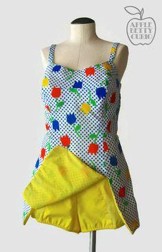 Vintage 1960's Kiss my Tulips Swimsuit by AppleBettyCurio on Etsy