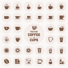 Vector Coffee Cup Icons